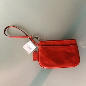 NWT Rust Coach Wristlet Pouch Wallet